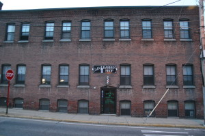 A typical building in downtown Hudson, MA. (photo taken by my brother)